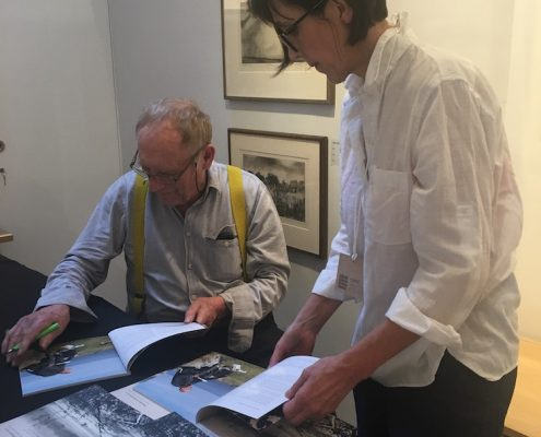 Norman Ackroyd and Annie Rushton, catalogue signing
