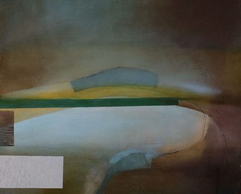 ROBINSON & MCMAHON undercloud 3 40x40cm oil and acrylic on panel