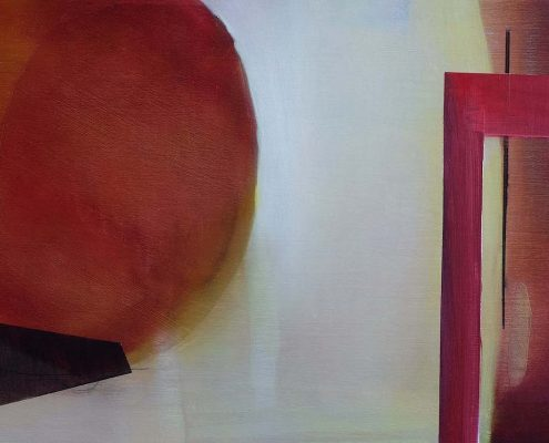abstract oil painting in red