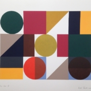 brightly coloured screen print called Toy Box by Richard Peacock