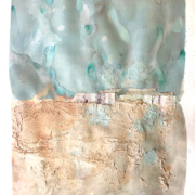 abstract painting pale colours