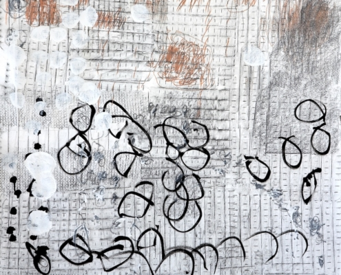 abstract artwork in greys