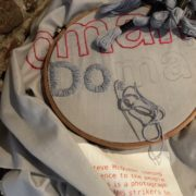 close up detail photo of tapestry in Progress