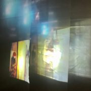 Photograph of projection by Domain_Material with Bronwyn Sharp