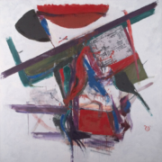 The a semi abstract painting of the Bombing of Nong Pladuk