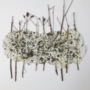 artwork made of recycled paper, St John's-wort twigs, and dried nettles.